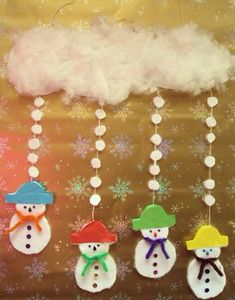 Do you want to build a snowman? Christmas Crafts For Kids, Christmas Activities, Xmas Crafts, Winter Christmas, Kids Christmas, Diy And Crafts, Christmas Decorations, Christmas Ornaments, Winter Fun