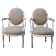 Check out this item at One Kings Lane! Italian Neoclassical-Style Armchairs, Pr