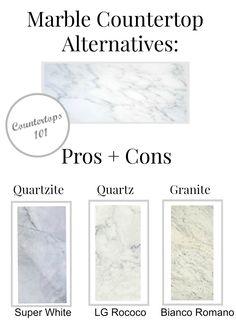 marble countertop alternatives