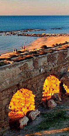 Caesarea Aqueduct . Israel