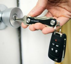 The KeySmart is a Universal Key Organizer to shrink the size of your bulky keyring.
