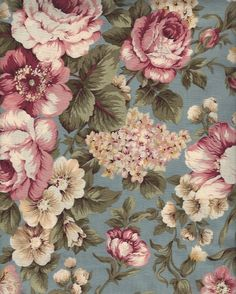 This Gorgeous #French Country or Perhaps Victorian or Even Shabby Cottage Chic All Cotton Fabric is ON SALE Here: http://www.bonanza.com/divine_sewandcrafts