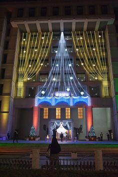 Christmas illumination at Osaka City Hall, Japan Christmas Light Displays, Christmas Lights, Large Holiday Homes, Christmas Scenes, Christmas Time, Xmas, New Years Traditions, Japan Image, Travel Box