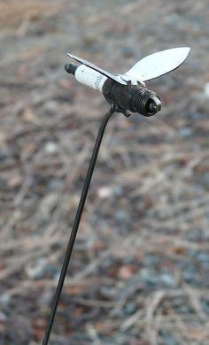 Firefly Yard or Garden Art Metal Sculpture by OldandRenewed, $25.00