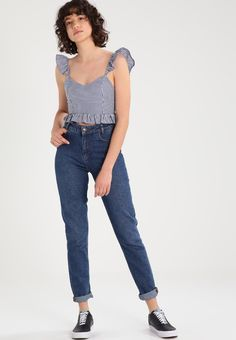 New Look Blusa - blue - Zalando. Moda Vintage, Shirt Blouses, Shirts, Outfit Goals, Outfit Ideas, Printed Blouse, Fashion Outfits, Womens Fashion, Everyday Outfits