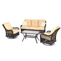 Found it at Wayfair - Orleans 4 Piece Deep Seating Group with Cushions