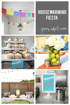 Throw a beautiful and fun Housewarming Fiesta with these creative and colorful ideas! You can learn how to make your own table décor, garland, and fiesta recipes for treats that everyone will love!