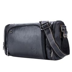 New Leather Male Shoulder Bags Large Capacity Crossbody Bags Middle Size Men Messenger Bag Hengkuan Bag Packaging, Messenger Bag Men, Large Bags, Bag Sale, Cross Body Handbags, Leather Men, Leather Handbags, Pouch, Gym