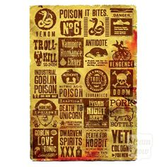 Vintage poison label print, from Steam Crow.