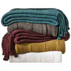 Threshold™ Knit Tassle Throw