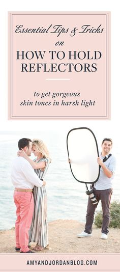 Essential tips and tricks on how to hold reflectors to get gorgeous skin tones in harsh light.