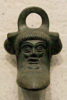 Achelous decorating a bronze situla. Dodona (northwestern Greece), sixth century BCE