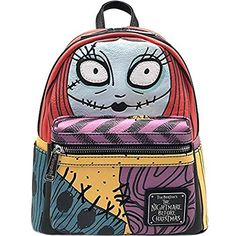 Loungefly x The Nightmare Before Christmas Sally Cosplay Faux Leather Backpack - Bags - Disney - Brands Nightmare Before Christmas Backpack, Sally Nightmare Before Christmas, Cute Mini Backpacks, Kids Backpacks, College Backpacks, Marvel Shoes, Disney Handbags, School Accessories, Backpack Reviews