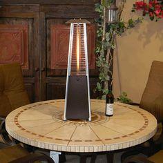 Sunmaster Bonfire Tabletop Gl Propane Patio Heater Bronze Woodlanddirect