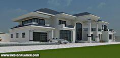 Luxury Homes – Luxury Dale 4 Bedroom House Designs, Bungalow House Design, House Front Design, Modern House Design, Duplex Design, Closet Designs, Beautiful House Plans, Dream House Plans, Modern House Plans