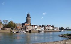 Vieuw from the other side of the river IJssel it's called de Worp.