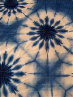Denim blue: The taste of Petrol and Porcelain | Interior design, Vintage Sets and Unique Pieces www.petrolandporcelain.com Indigo Shibori