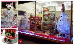 {Our Christmas window display Christmas Window Display, Indoor Christmas Decorations, Window Displays, Window Shopping, Windows, Halloween, Painting, Art, Display Cases