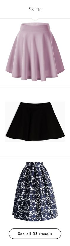 """Skirts"" by blackwhiteheart ❤ liked on Polyvore featuring skirts, mini skirts, bottoms, pants, skater skirt, purple skater skirt, stretch mini skirt, mini flare skirt, skater skirts and purple skirt"