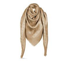 Discover Louis Vuitton Monogram Shine Shawl via Louis Vuitton