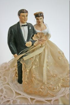 vintage cake topper... we used my mother and daddy's and I am saving it for my daughter to use