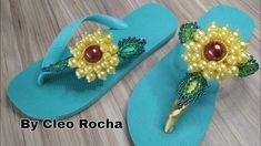 Crochet Sandals, Flip Flops, Earrings, Youtube, Jewelry, Women, Decorated Flip Flops, Flip Flop Decorations, Rock