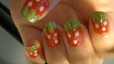 Cute Strawberry Nails - BubzBeauty