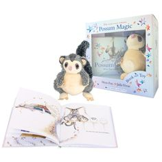 Possum Magic Gift Box - The Australian classic by Mem Fox and Julia Vivas is now available with a cuddly Hush toy as part of the Anniversary. Australian Gifts, Australian Authors, Possum Magic, Gifts Australia, Magic Book, Free Gift Cards, Hush Hush, Bedtime, Fox
