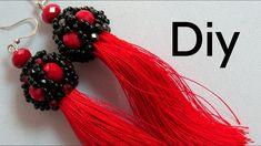 Diy Bijoux – Brinco de Tassel com Cristais e Miçangas ! Diy Bijoux – Tassel Earring with Crystals and Beads! Beaded Earrings Patterns, Bead Earrings, Tassel Earrings, Beading Patterns, Crochet Earrings, Jewelry Making Tutorials, Beading Tutorials, Tassel Jewelry, Beaded Jewelry
