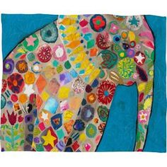Painted Elephant Throw