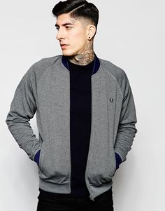 Fred Perry Track Jacket with Contrast Collar