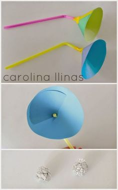 Experiment to make a ball float Kid Science, Science Activities For Kids, Stem Science, Preschool Science, Science Projects, Projects For Kids, Easy Crafts For Kids, Diy For Kids, Diy And Crafts