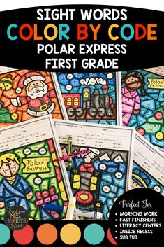 Your firsties will love these Polar Express theme no-prep printable color by sight word worksheets! Keep your students motivated and engaged as they increase their reading fluency with all 1st grade Dolch sight words! Develop their fine motor skills while improving their reading comprehension skills during the Christmas season!  Answer keys are included!  Perfect for morning work, literacy centers, reading intervention/RTI, inside recess, fast finishers, ELL/ESL, homework, and homeschoolers!