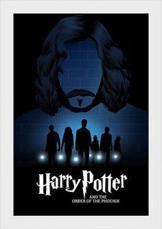 Harry Potter and the Order of the Phoenix - Posters Minimalist - Poster inspired by the fifth book of the saga Harry Potter