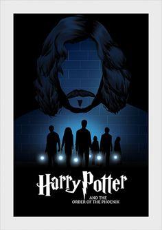 Ordem da Fênix - Harry Potter - Livros | Posters Minimalistas