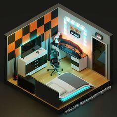 Small Game Rooms, Gaming Room Setup, Computer Setup, Bedroom Setup, Video Game Rooms, Game Room Design, Gamer Room, Game Room Decor, Girl Bedroom Designs