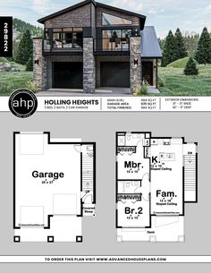 2 Bedroom Modern Carriage House Image Size: 835 x 1080 Source Carriage House Plans, Barn House Plans, Modern House Plans, Small House Plans, Log Home Plans, Barn Plans, Garage Apartment Plans, Garage Apartments, Garage Plans