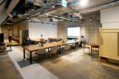 japan-architects.com: 田中裕之がインテリアを手掛けたシェアスペース「BUKATSUDO」