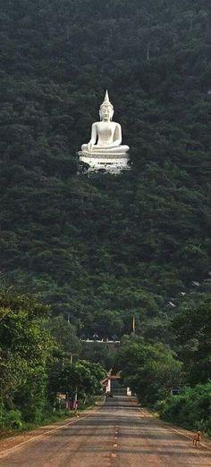 Massive Buddha Statue, Pak Chong forest, Nakhon Ratchasima province, Thailand.