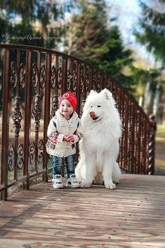 Precious photo of Child & Dog ♥