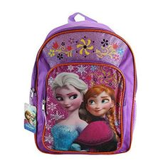 Fast Forward Disney Frozen Anna  Elsa Purple Backpack * Read more reviews of the product by visiting the link on the image. (Note:Amazon affiliate link)