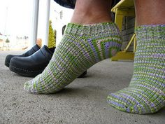 This is a free pattern for toe-up ankle socks or footies, written specifically for Cascade fixation, or a comparable yarn (Cascade is a DK weight yarn). It is written for knitters familiar with sock construction, and knitting on one long circular needle (I do 2 at a time), but you may choose double points if you prefer. This basic pattern includes instruction for a short row heel, but again, you can choose your favourite toe-up heel here if you wish. This pattern was not written with the…