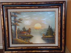 This is a original Victor Ball painting framed and matted.