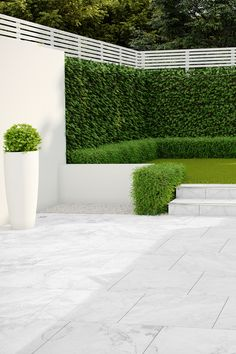 PorcelQuick Stainless Steel Trims are perfect for a quick and easy step profiling option Garden Design Plans, Backyard Garden Design, Backyard Landscaping, Landscaping Ideas, Outdoor Paving, Outdoor Tiles, Patio Tiles, Outdoor Flooring, Garden Tiles