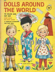 Paper Doll_Vintage Dolls Around the World