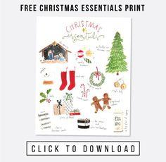 Free Christmas Essentials Art Print / jones design company