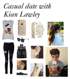 """Casual date with Kian Lawley"" by lauren-25ellis on Polyvore featuring Topshop, Miss Selfridge, Forever 21, Agent 18, Charlotte Russe, Otis Jaxon, youtube, kianlawley and kian"