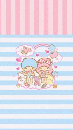 Wallpaper Sanrio Wallpaper, Little Twin Stars, Chibi, Hello Kitty, Twins, Kawaii, Creative, Cute, Fictional Characters