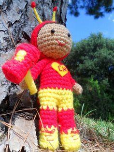 Chapulín croché tejido por Patito de https://www.facebook.com/triplezstore