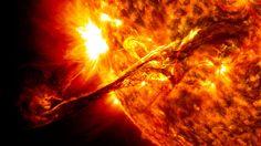 A long filament eruption on the sun